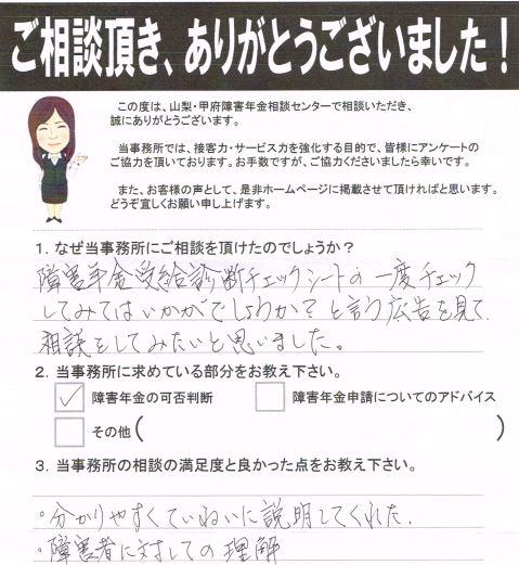 20141005三井先生 お客様の声