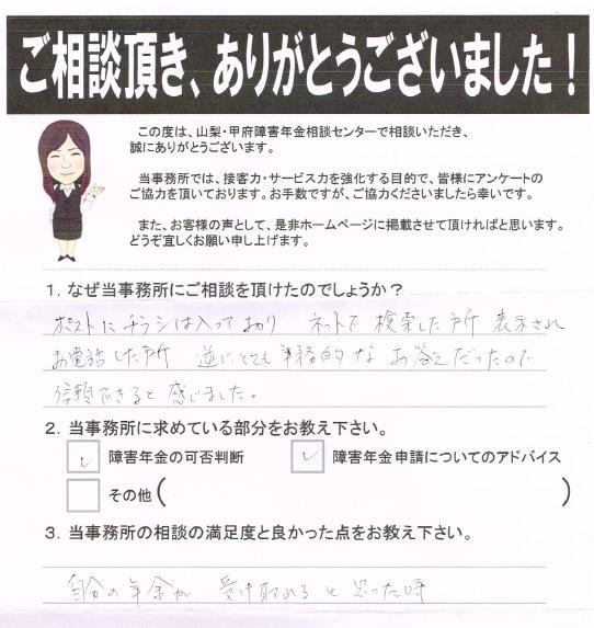 20140809 三井先生相談アンケート